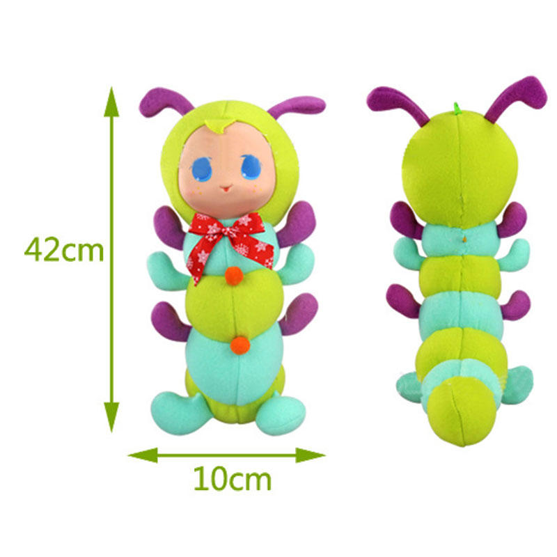 Caterpillar Stuffed Bedtime Playmate Short Plush Toy Gift Decor Collection - 7