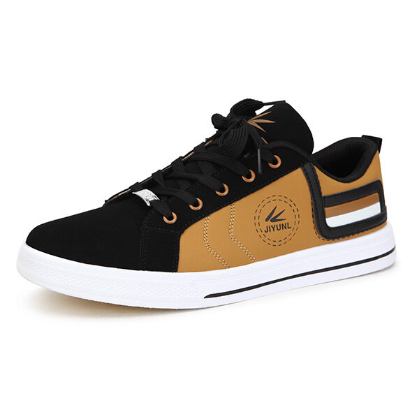 New Men Fashion Breathable Casual Low Top Lace Up PU Sport Shoes - 4