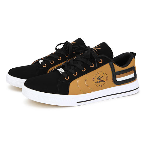 New Men Fashion Breathable Casual Low Top Lace Up PU Sport Shoes - 5