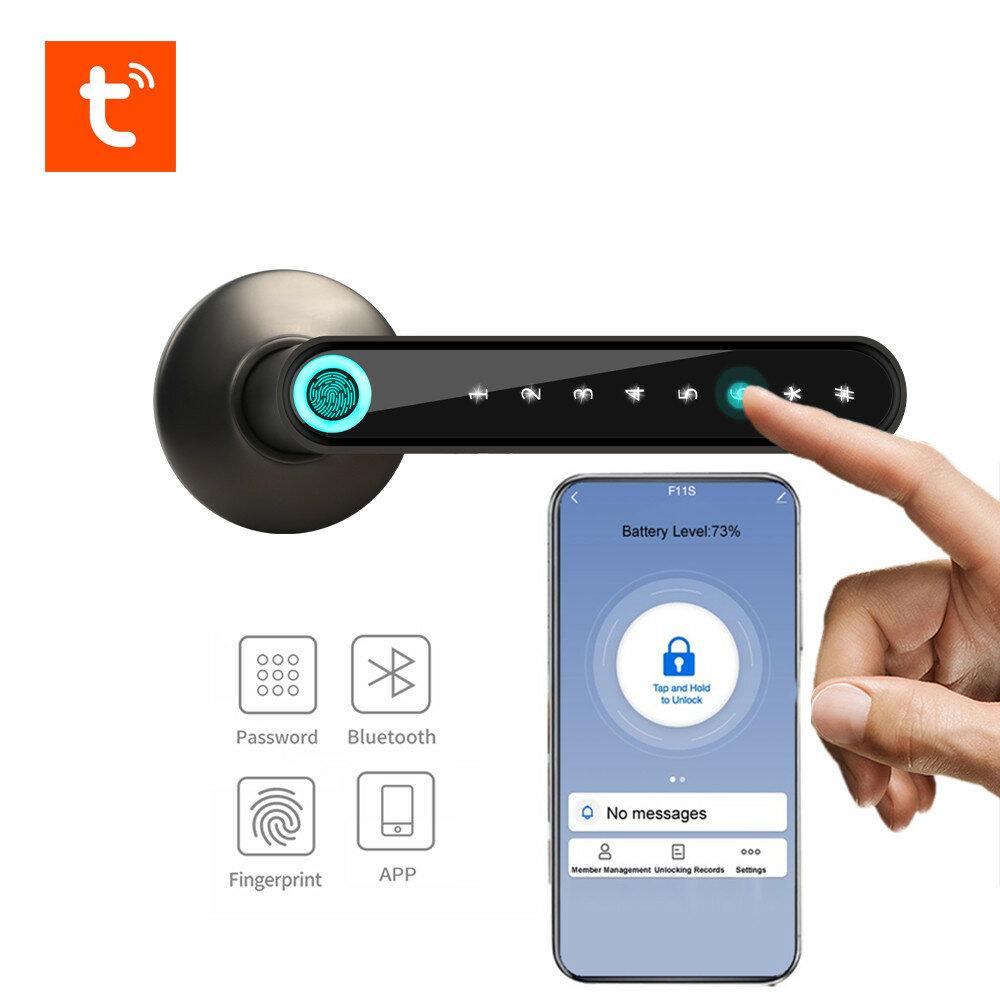 WAFU WF-016 TUYA APP Fingerprint Smart Lock bluetooth Door knob Keyless Entry Front Door Lock with with TUYA APP