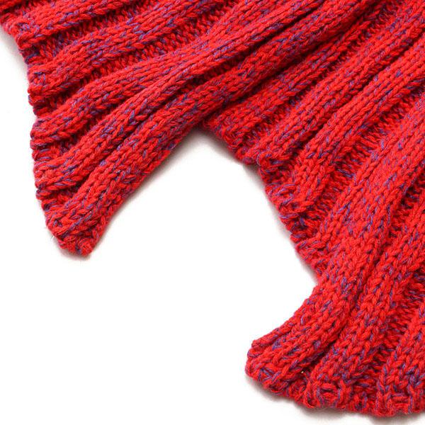 195x90cm Yarn Knitted Mermaid Tail Blankets Handmade Crochet Throw Super Soft Sofa Bed Mat - 12