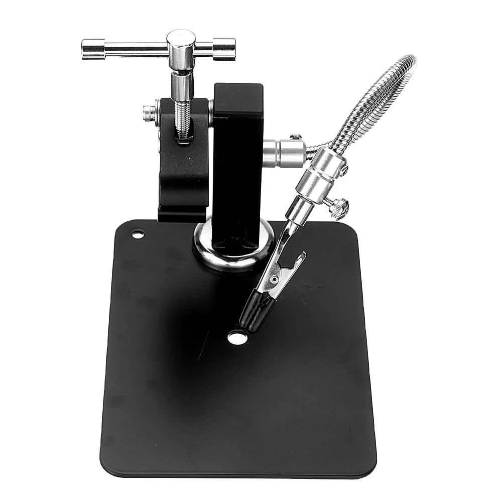 YP-004 PCB Fixture Base Arms Soldering Station PCB Fixture Helping Hands Electronic DIY Tools with Universal 4 Flexible Arms + 3 Magnetic Column - 8