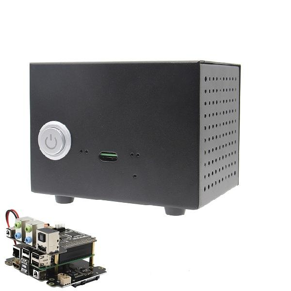 X6000K-7.1CH Expansion Board + Case + Adapter Kit for Raspberry Pi 1 Model B+/ 2 Model B / 3 Model B