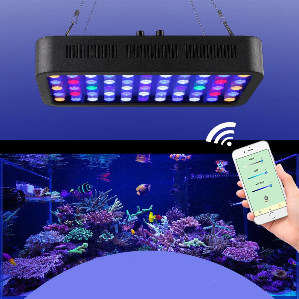 165W LED Aquarium Lighting Aquatic Plant Light WiFi Controlled Dimming Aquarium Light Coral light Fish Bowl Lamp for Fis