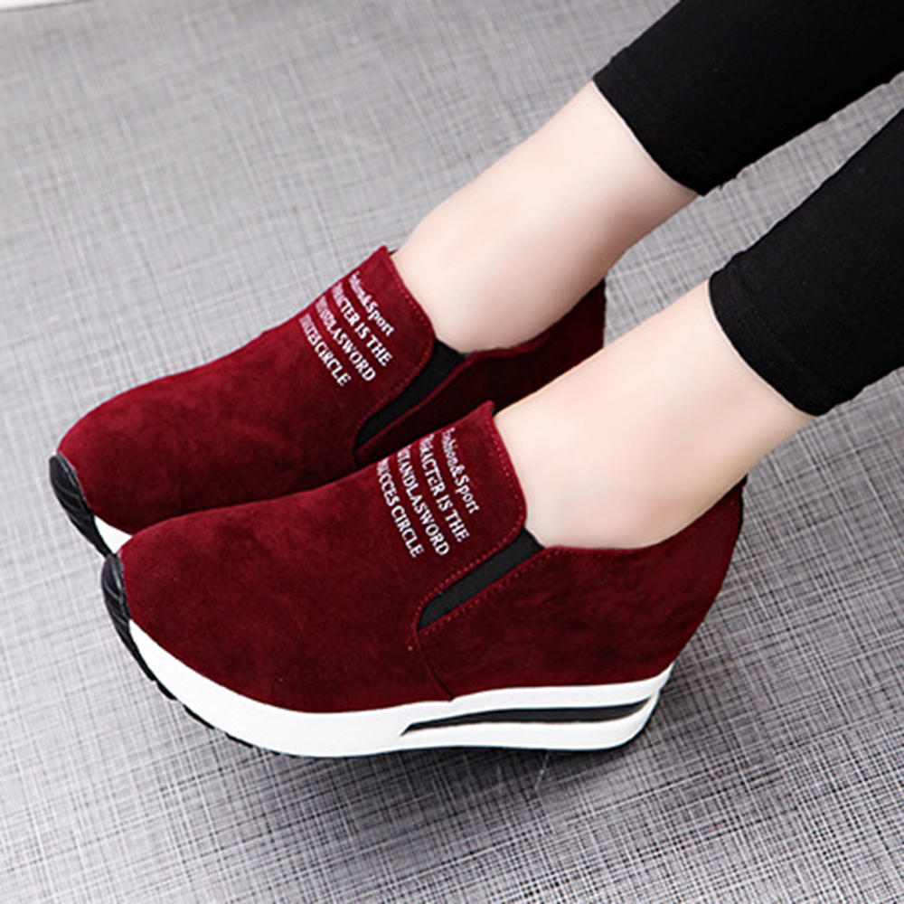 Women Slip Resistant Air Cushion Comfy Boots Sneakers - 6