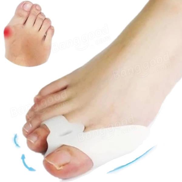 2 Cái Soft Silicone Gel Tách ngón chân Máy ép tóc Chỉnh sửa Bunion Bảo vệ
