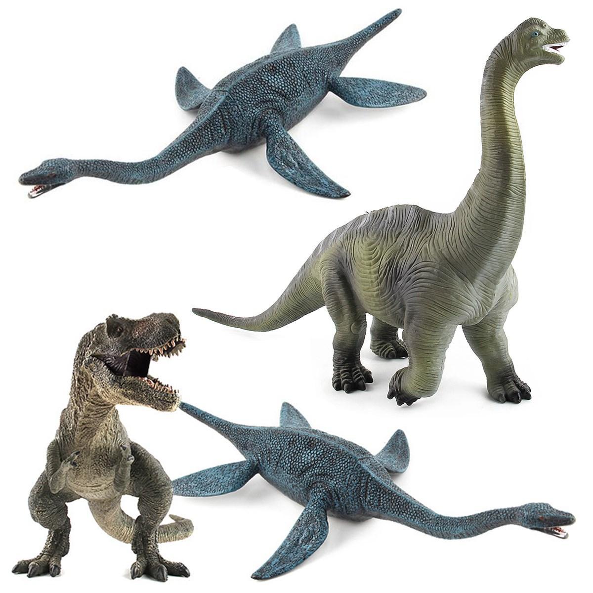Большая игрушка динозавров Brachiosaurus Реалистичная твердая пластиковая модель Diecast для детей - 2