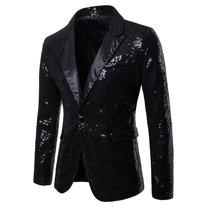 Men Printed Blazer Suit Jacket - 4
