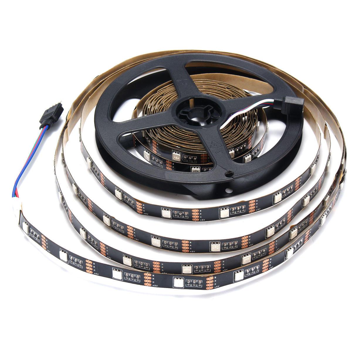 0.5 / 1/2/3/4 / 5M non imperméable à l'eau USB RGB SMD5050 LED Strip Light TV éclairage de fond Kit DC5V - 8