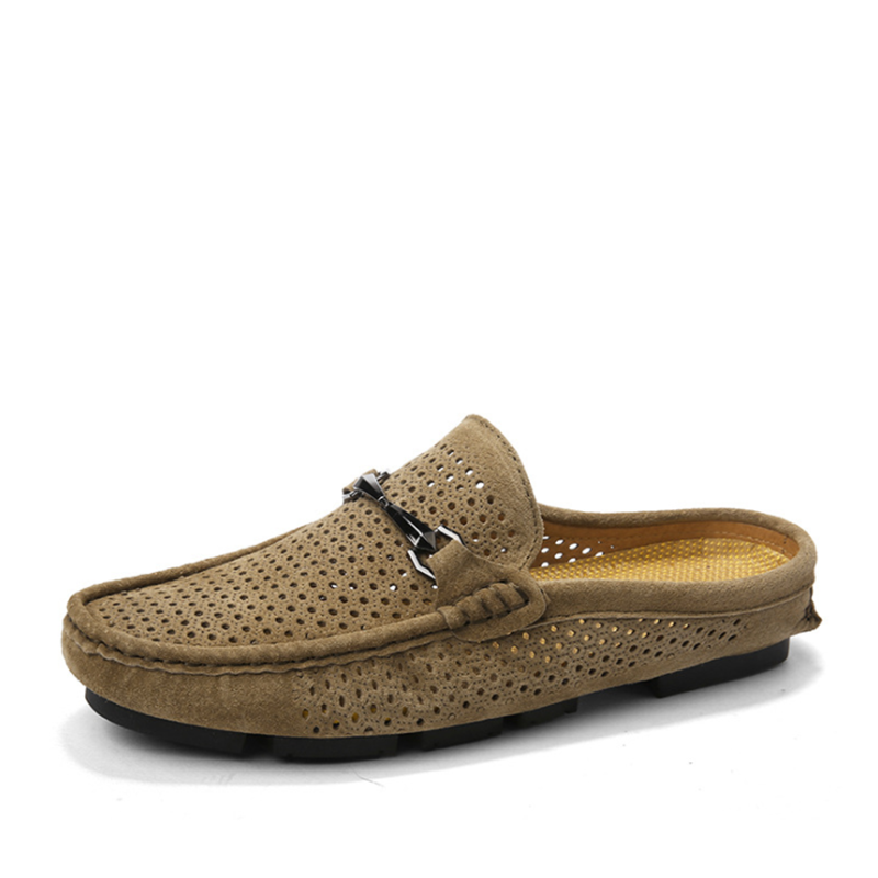 Men's Perforation Slippers Shoes Breathable Quick Drying Beach Shoes Slippers Sandals Outdoor Casul Shoes