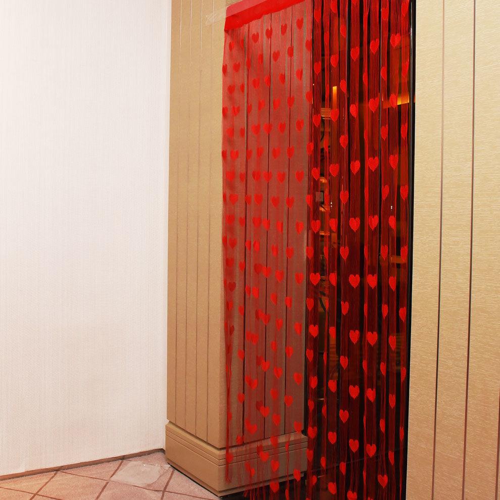 1mx2m Love Heart String Curtains Tassel Drape For Wall Vestibule Door Window Home Decor, Banggood  - buy with discount