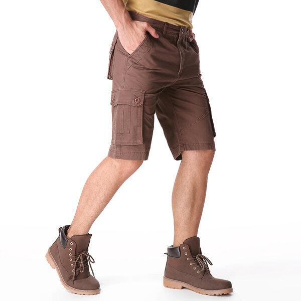 Outdoor Multi-pocket Cotton Cargo Shorts - 6