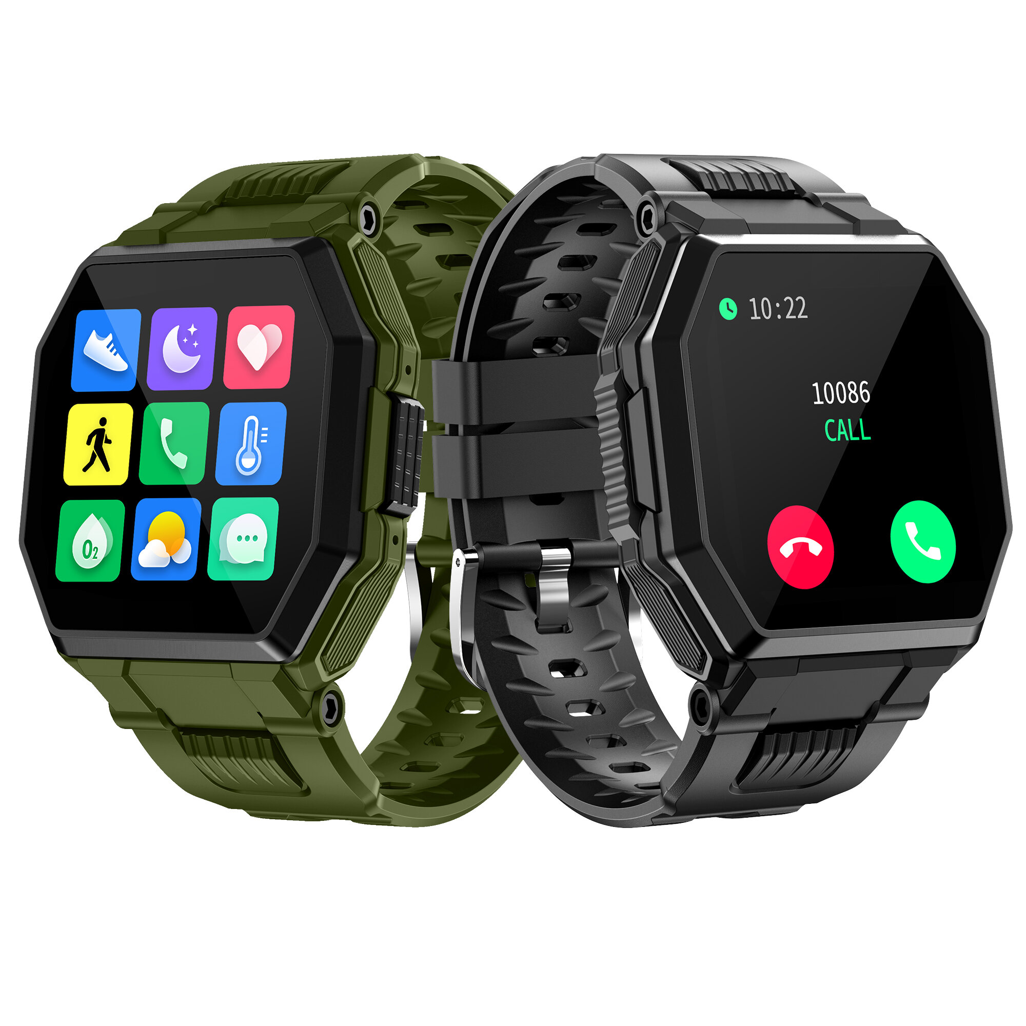 [bluetooth Call]Bakeey S9 Full Touch Screen Heart Rate Blood Pressure Oxygen Monitor Multi-language APP Dials Push BT5.0