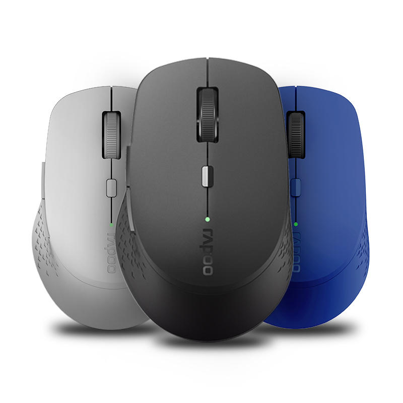 e7ed85c70c4 Rapoo M300 1600DPI Multi-Mode bluetooth 3.0/4.0 2.4GHz Wireless Optical  Mouse for Laptops Tablets COD