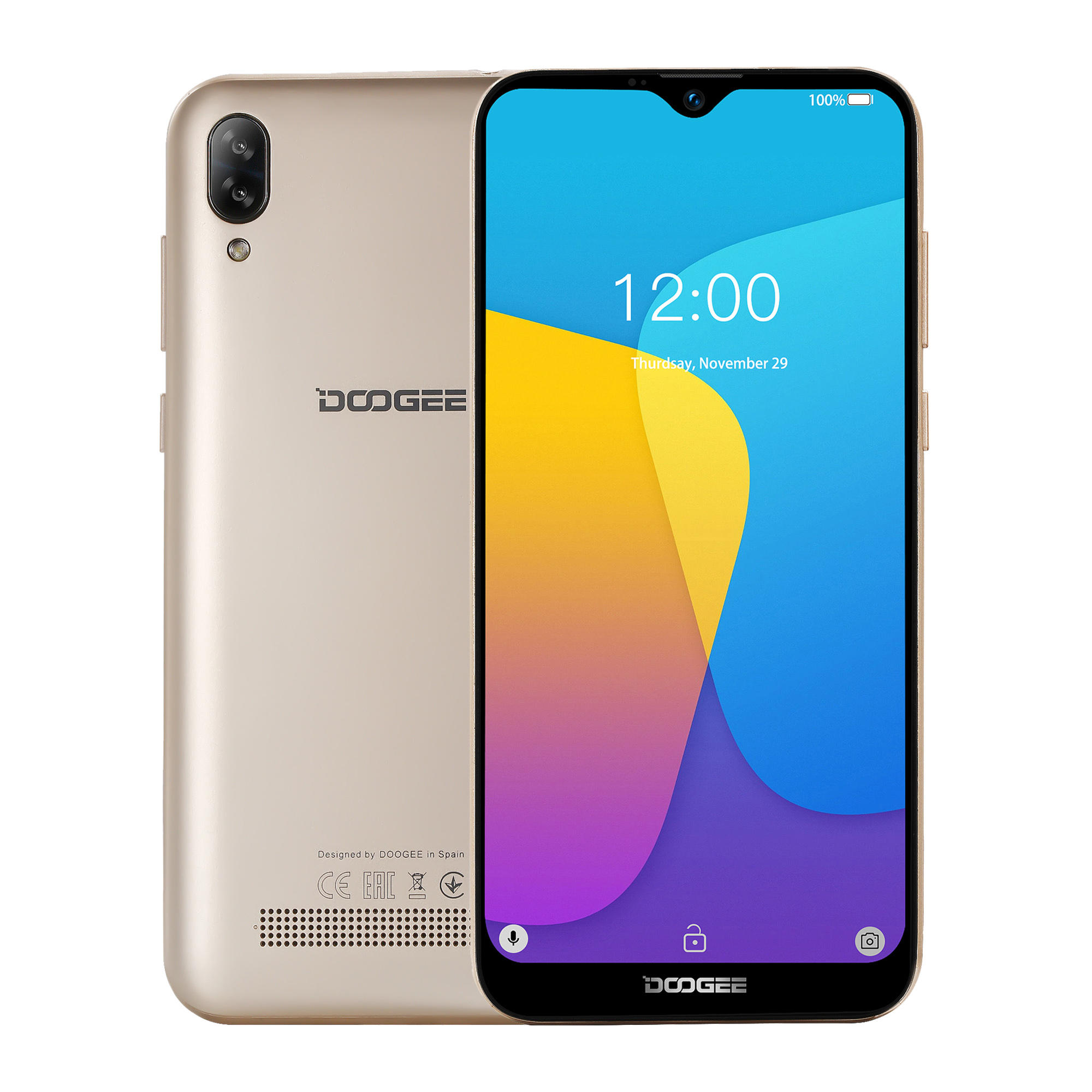 DOOGEE N20 6.3 inch FHD+ Android 9.0 4350mAh Triple Rear Cameras 16MP Front Camera 4GB 64GB Helio P23 4G Smartphone - 5
