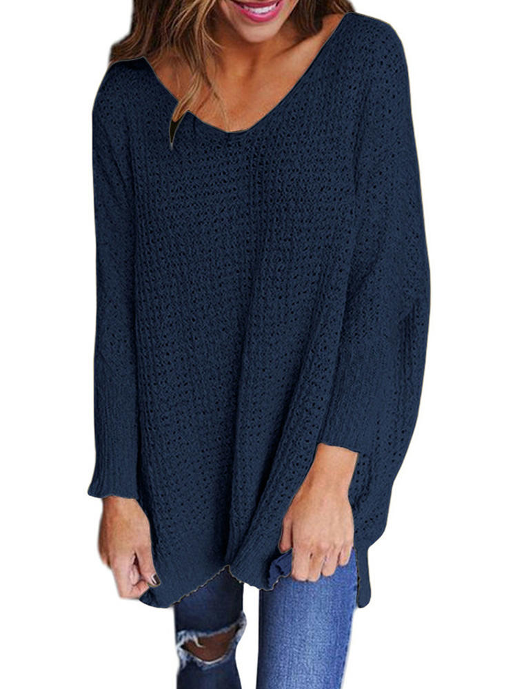 Shawl Collar Irregular Patchwork Button Hooded Knit Sweaters - 6