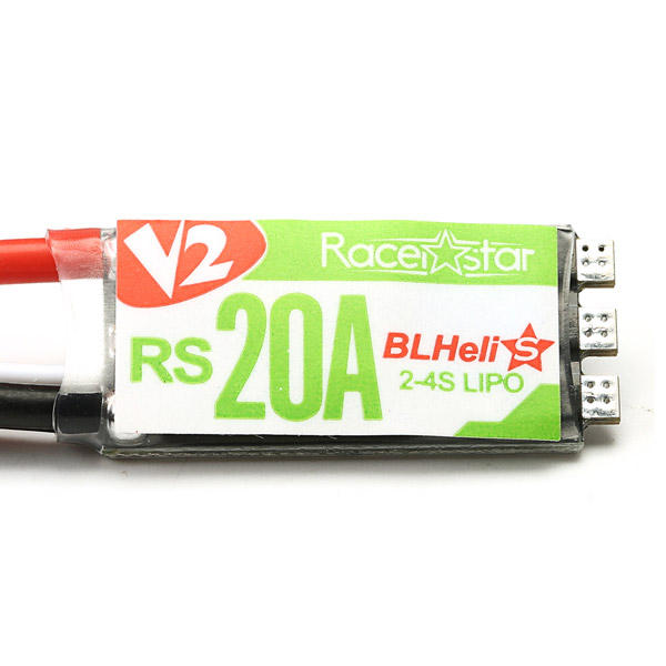 Racerstar RS20A V2 New 20A  Blheli_S OPTO 2-4S ESC Support Oneshot42 Multishot 16.5 Dshot600 for X220 RC Drone