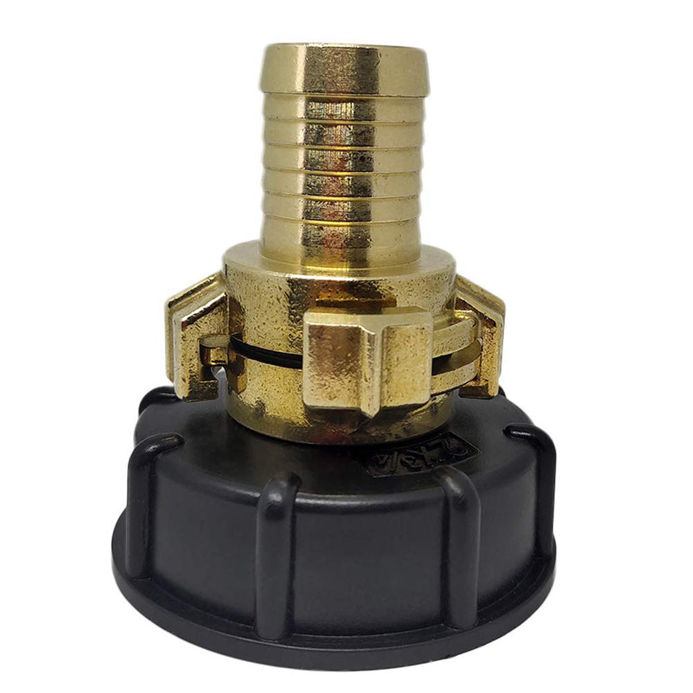 S60x6 IBC Faucet Tank Coarse Thread Drain Adapter to Brass with 20/25mm  Hose Outlet Fitting Connector Replacement Valve Fitting Parts for Home  Garden