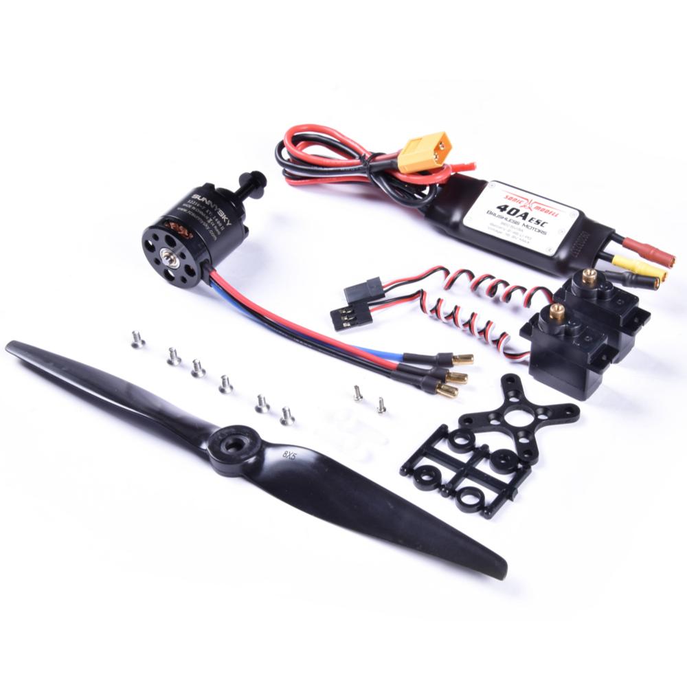 Sonicmodell AR Wing Pro Power Combo 2216 KV1400 Бесколлекторный мотор и 40A ESC с 5V 3A BEC и 9g Metal Gear Сервопривод