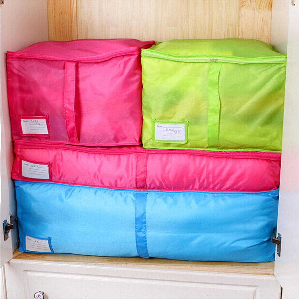 Portable Quilts Storage Bags Packing Luggage Folding Storage Box Clothes Organizer Bags Home Storage Organizer - 2