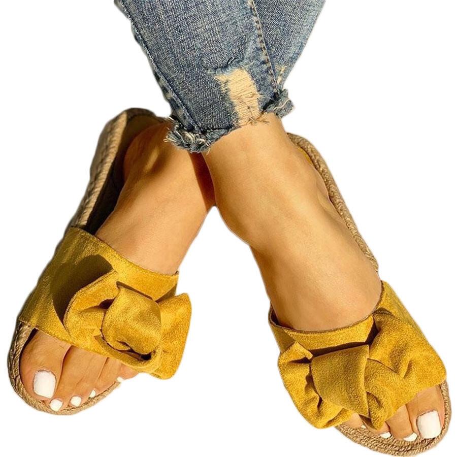 נשים של חוף סנדלים נעלי בית Non-Slip מקרית לבוש נעליים פרחים תבנית