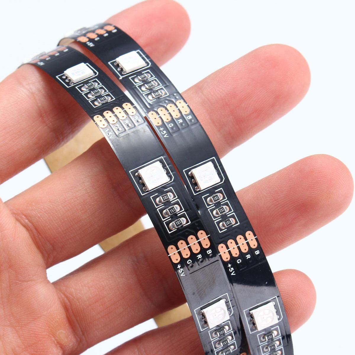 0.5 / 1/2/3/4 / 5M non imperméable à l'eau USB RGB SMD5050 LED Strip Light TV éclairage de fond Kit DC5V - 10