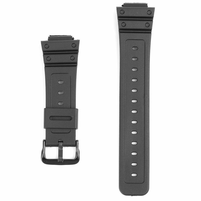 16mm Black Rubber Watch Band For CASIO G-Shock DW-6900 DW6600 With Buckle