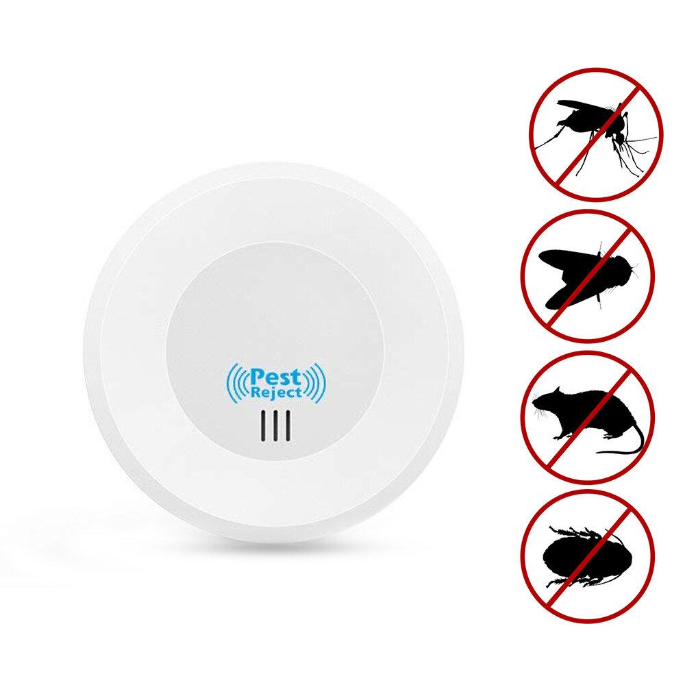 Loskii HP-220 Home Indoor Elektronisk Plugg In Ultrasonic Pest Control Myggor Mus Pest Repeller med Night Light