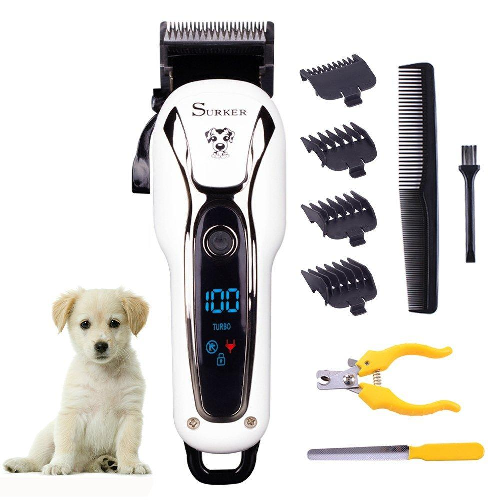 Pet Clipper Rechargeable Pet Cat Dog Electric Trimmer Hair Cutter Shaver Grooming Tool Kit - 1