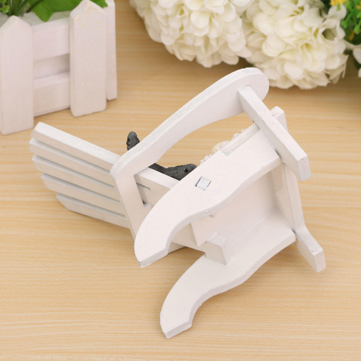 Mediterranean Style Wooden Mini Chairs Desktop Ornaments Home Garden Decoration Furnishings - 10