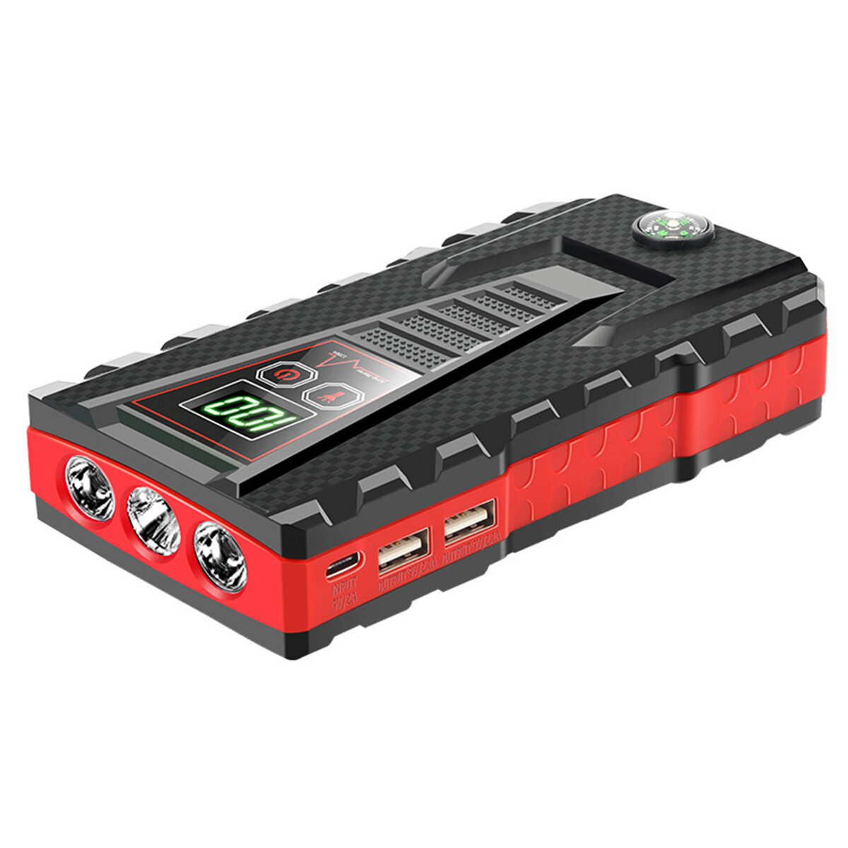 JX56 1200A 99800mAh Car Jump Starter Power Bank Starting Device Portable Emergency Battery Booster Auto Charger