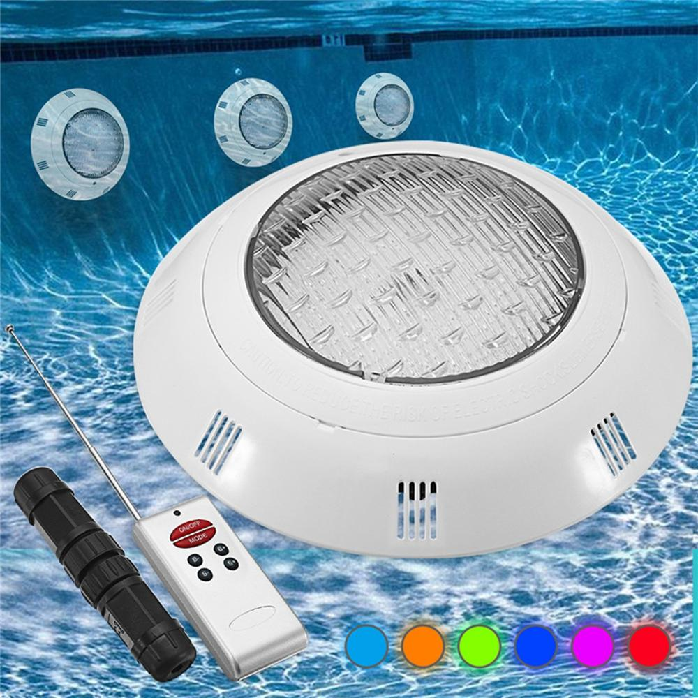 18W RGB LED Swimming Pool Light Underwater Waterproof Remote Control Wall  Mounted Night Light
