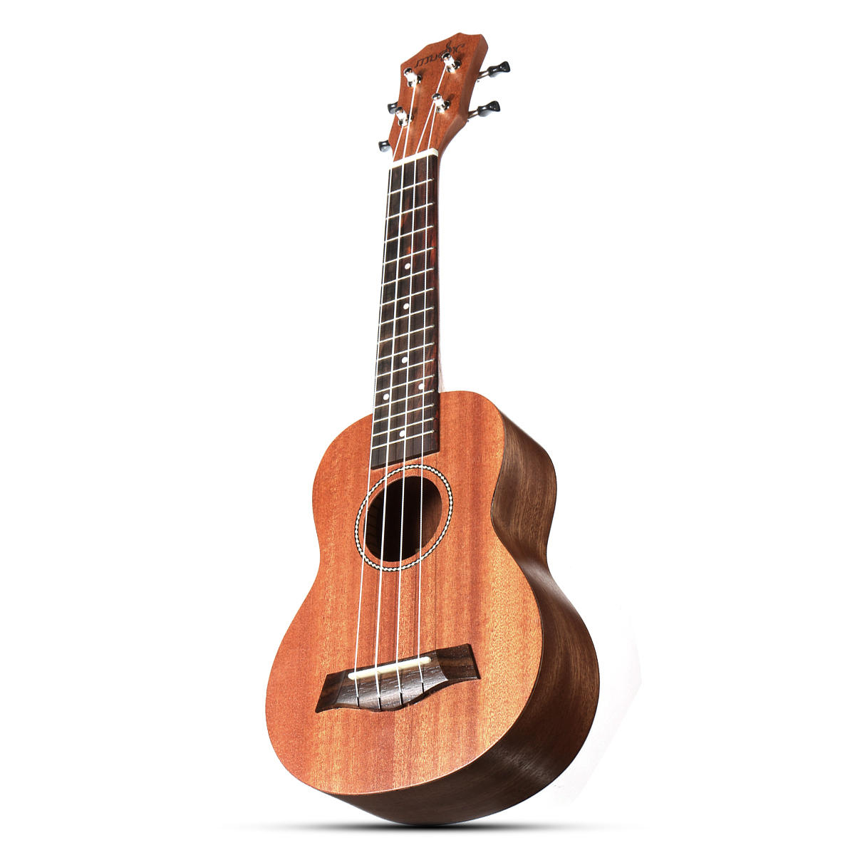 21 Inch 4 Strings 15 Frets Wood Color Mahogany Ukulele Musical Instrument With Guitar picks/Rope - 4