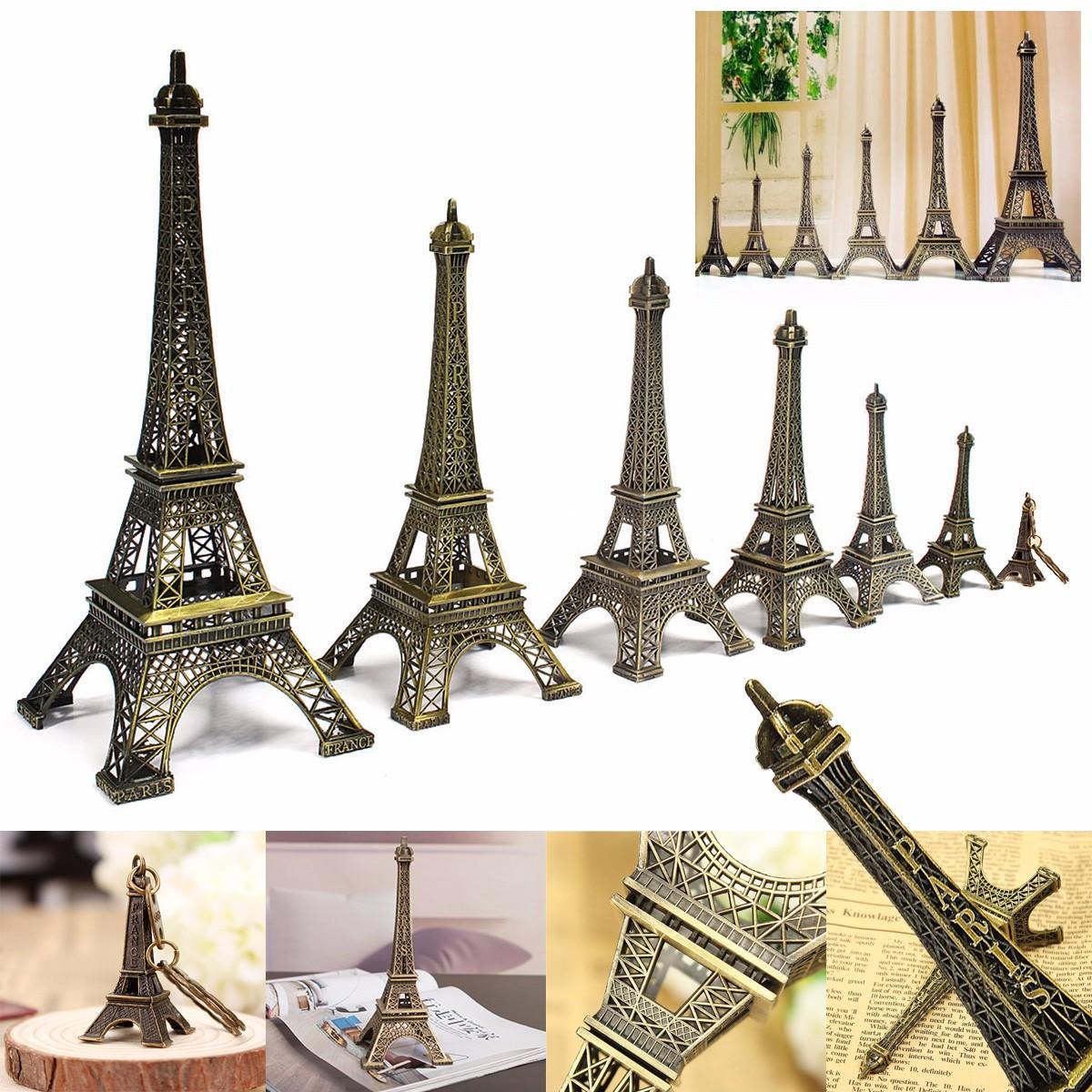 13cm Multi Color Retro Statue Figurine Paris Eiffel Tower Home Decoration