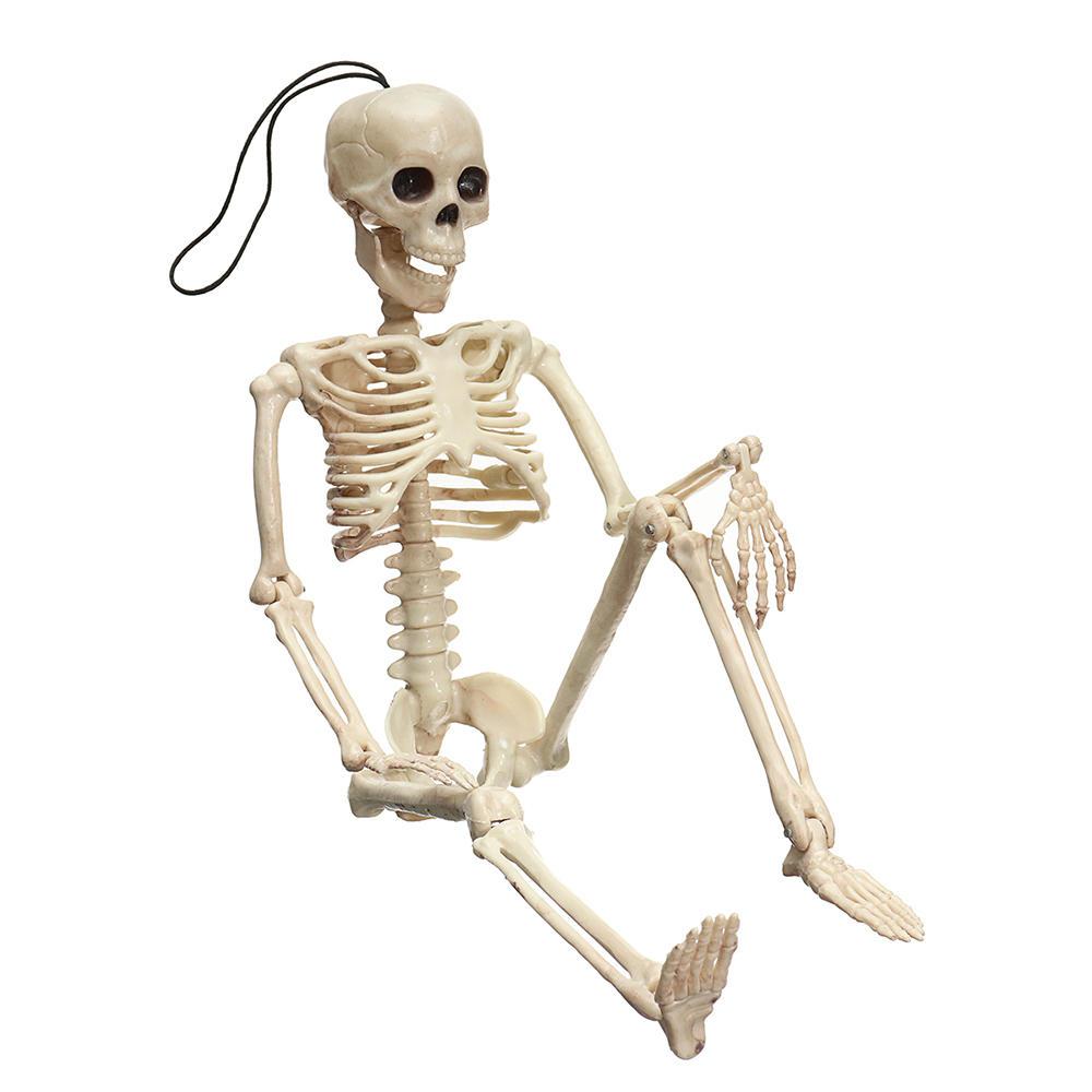 Creepy Human Skeleton Skull Figurine Scary Halloween Skeleton Prop Party Decorations