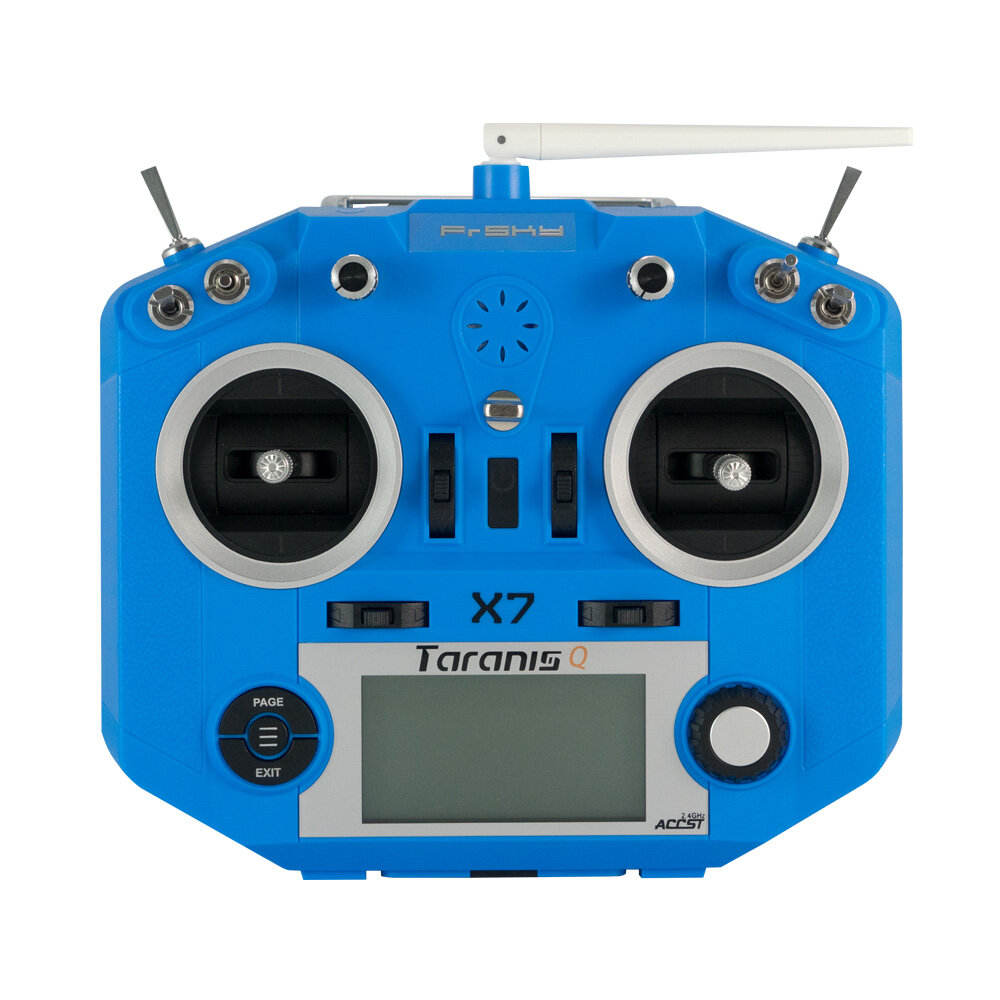 FrSky ACCST Taranis Q X7 2.4GHz 16CH Mode 2 Transmitter Blue Orange untuk RC FPV Racing Drone