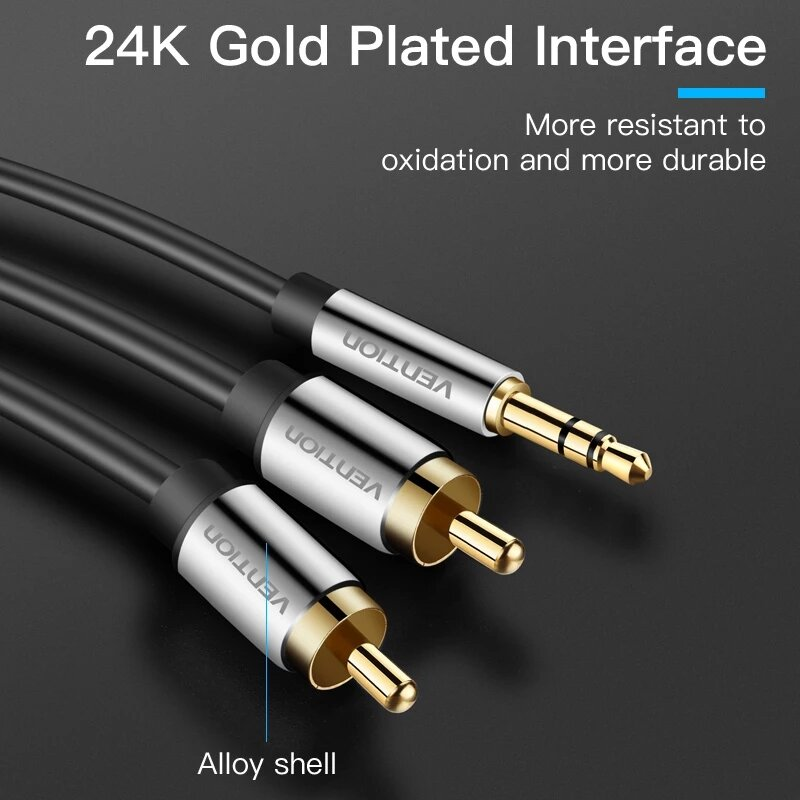 Vention RCA Jack Cable 3.5mm Jack to 2 RCA Audio Cable 2m 3m 5m 10m 2RCA Cable for Edifer Home Theater DVD rca to 3.5mm