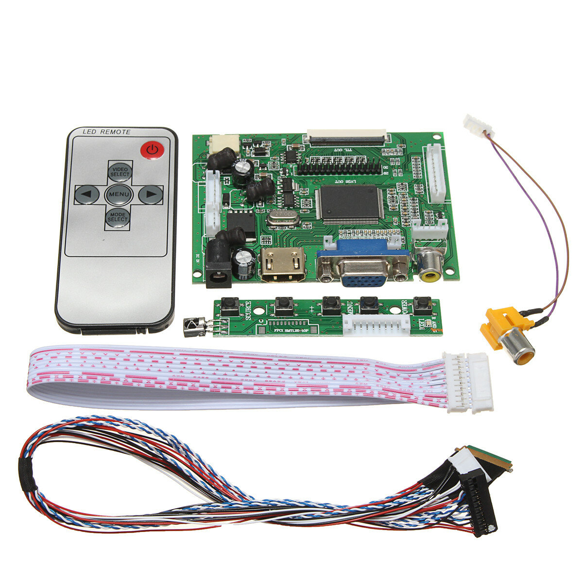 LCD Controller Board DIY Assembly Kit For 1366x768 15.6 Inch LP156WH4(TL)(A1) LED Screen Display
