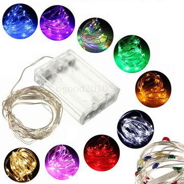3M 30 LED Battery Operated Silver Wire Multi-Color String Fairy Light Wedding Xmas Tree Decor 4.5V