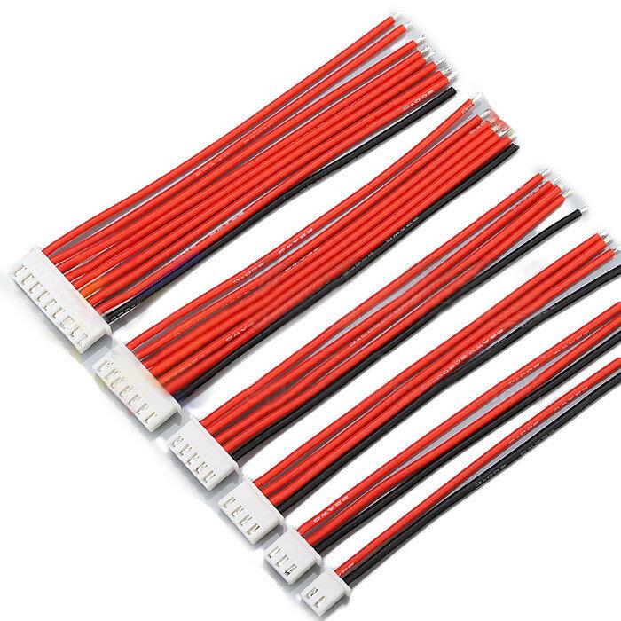 2.54XH 22AWG 13CM 1S 2S 3S 4S 6S 8S Balans Kablosu Silikon Tel için Lipo Bataryalar