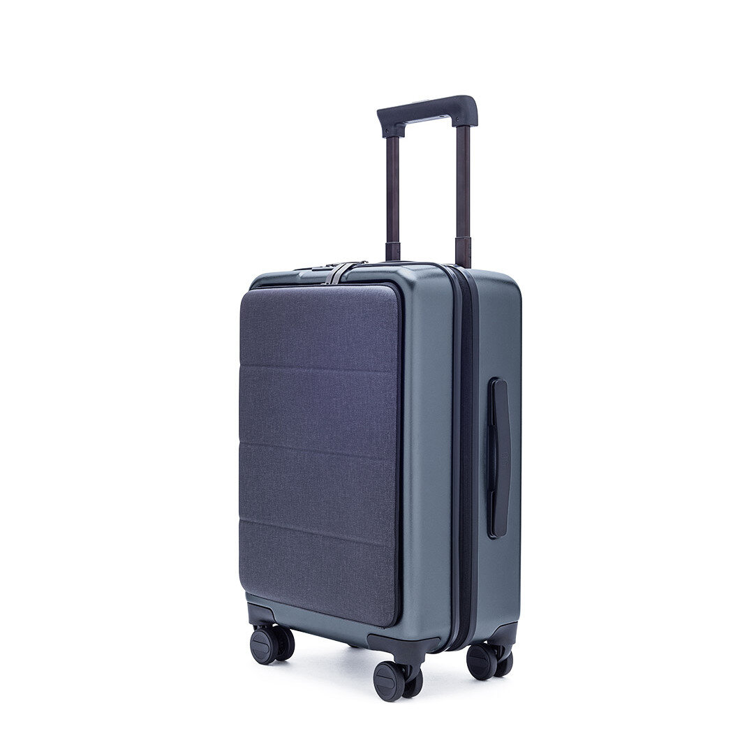 90FUN 36L 20inch Suitcase Double TSA Lock Carry On Luggage 360° Universal Wheel Case From for Travel Business