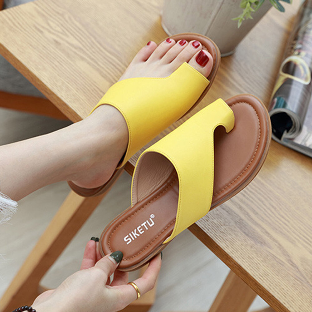 LOSTISY Handmade Stitching Hollow Casual Comfy Sandals - 1