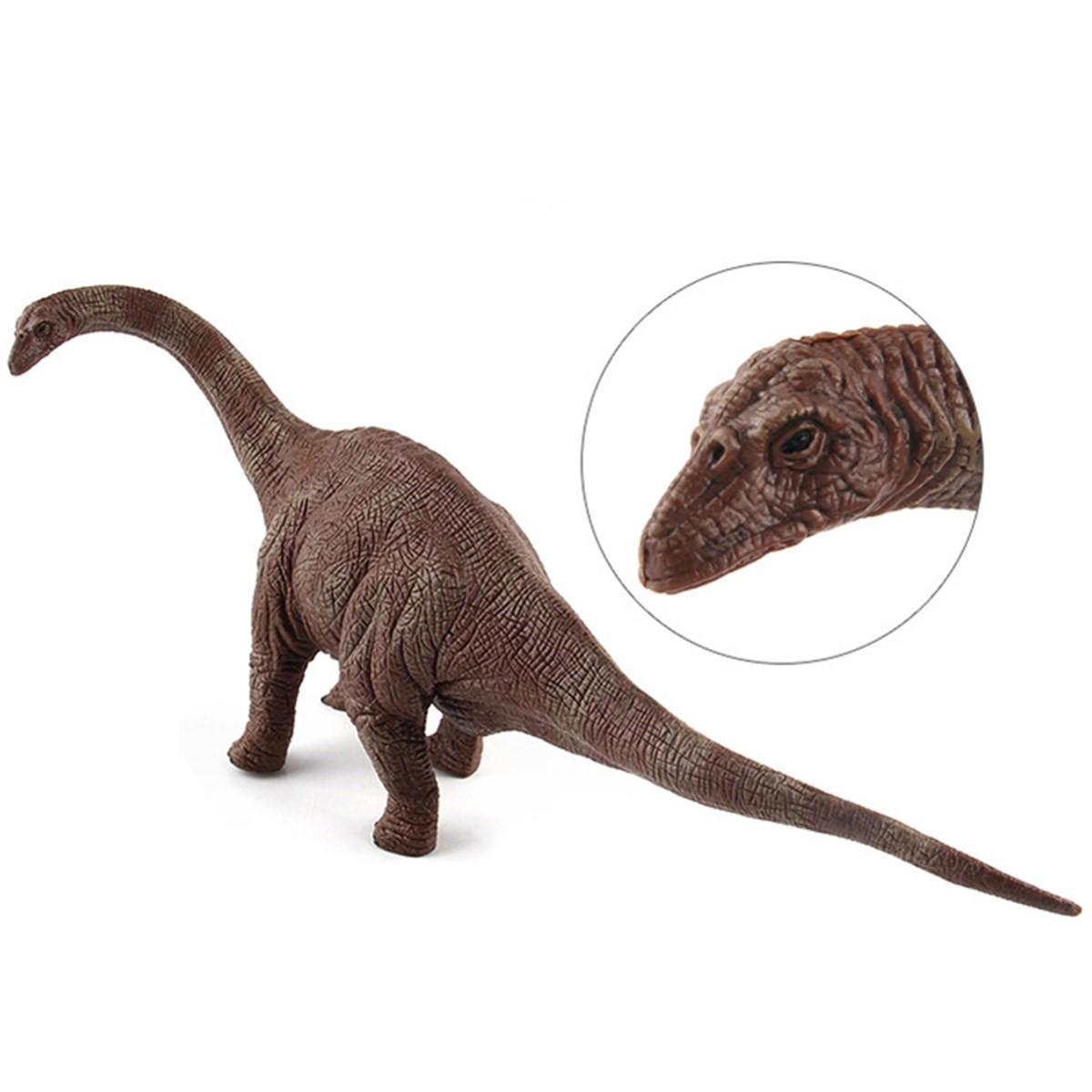 Grande Brachiosaurus Dinosaur Toy Realistic Diecast Model Solid Plastic Gift To Kids - 6