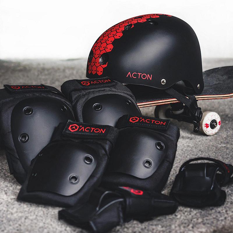 Acton 7ピースサイクリングヘルメットスポーツ保護ギア耐衝撃肘膝ハンドパッド安全スーツからXiaomi Youpin