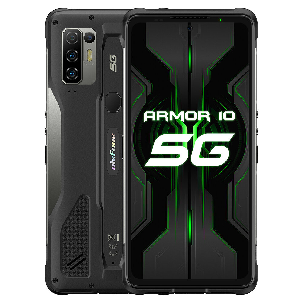 Ulefone Armor 10 5G IP68 IP69K Waterproof 6.67 inch 8GB 128GB 64MP Quad Camera NFC 5800mAh 15W Wireless Charge MTK Dimen