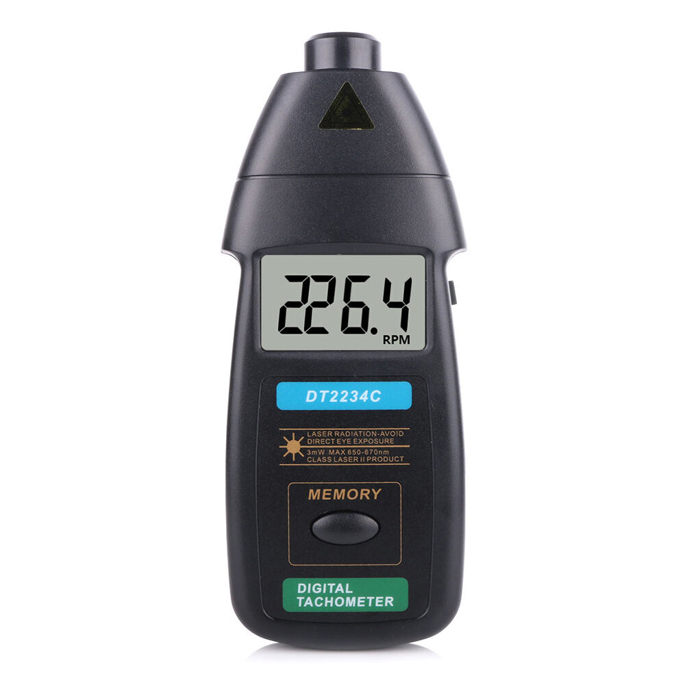 DT2234C Digital Laser Tachometer RPM Meter Non-Contact 2.5RPM-99999RPM LCD Display Speed Meter Tester Speed, Banggood  - buy with discount