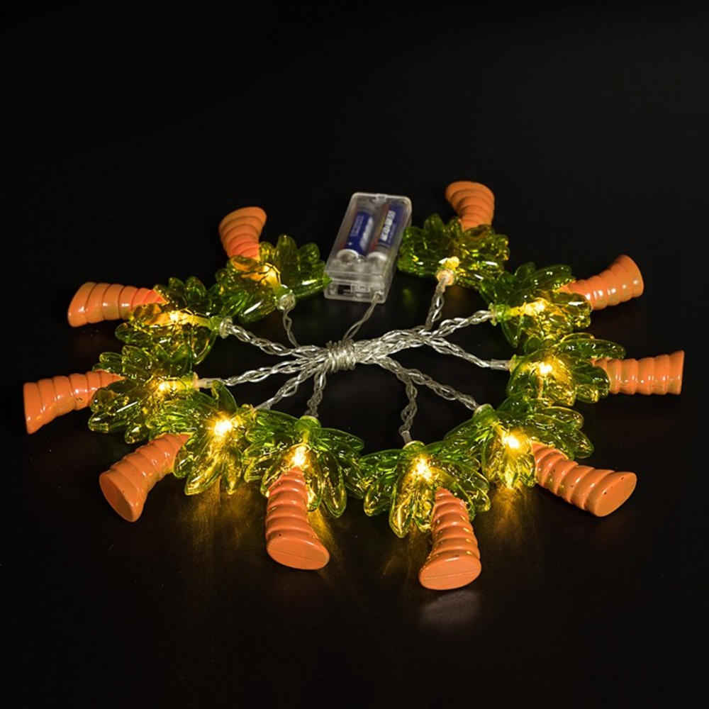 Battery Powered Warm White 1.2M 10LED Coconut Palm Tree Fairy String Light for Holiday Home Decor