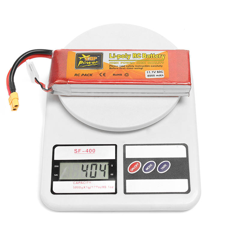 ZOP Power 11.1V 5000mAh 3S 60C Lipo Battery XT60 Plug - 6