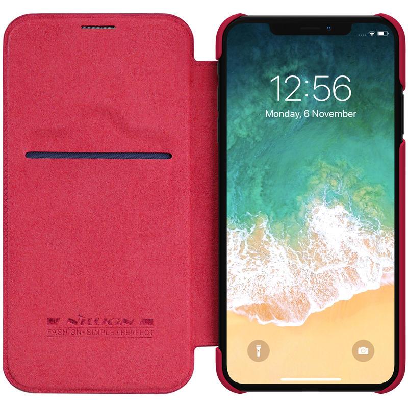 """Nillkin Beskyttelsesveske til iPhone XS Maks 6,5 """"PU Leder-kortspor"""