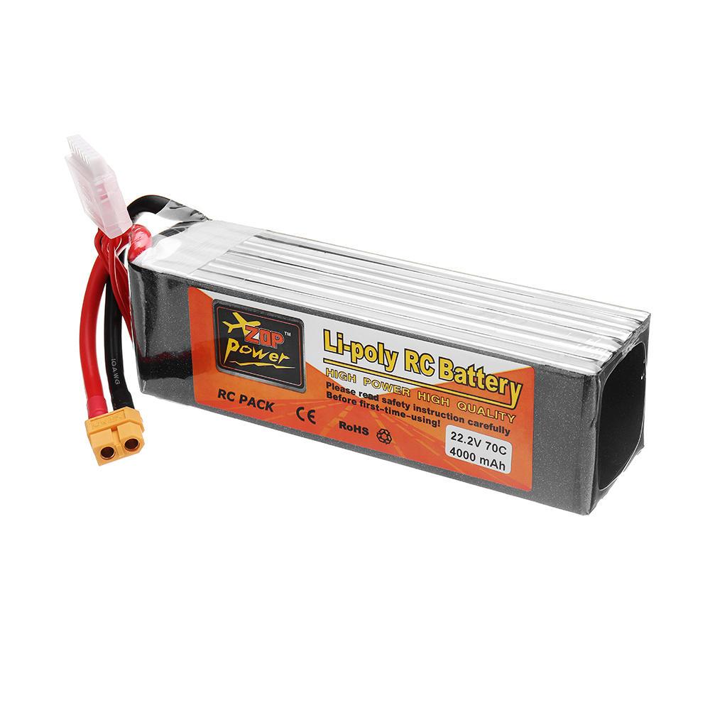 ZOP POWER 22.2V 4000mAh 70C 6S Lipo batterij met XT60 stekker - 4
